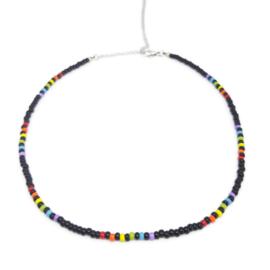 Little beads ketting ''rainbow'' 9, handmade