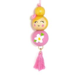 """Gelukspoppetje ''flower"""" light pink"""