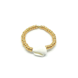Bead ring ''shell'' gold