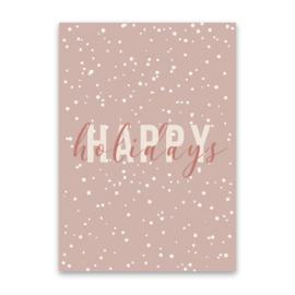 Kaart ''happy holidays''
