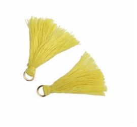 Flosjes 3,5cm ''yellow'' 10 stuks