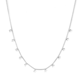 Ketting stainless steel ''tiny stars'' silver