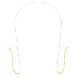 Zonnebrillenkoordje ''yellow stones'' goud