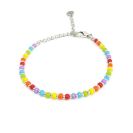 Kralen enkelbandje 3mm ''happy colors'' handmade