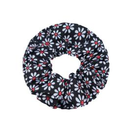Scrunchie ''happyflower'' black