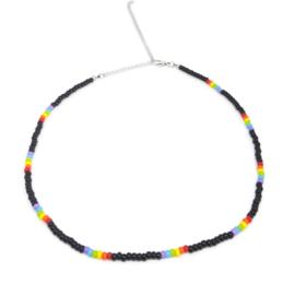 Little beads ketting ''rainbow'' 7, handmade