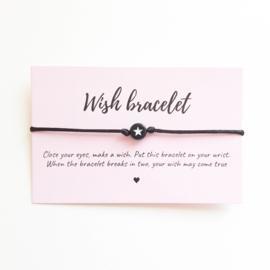 Wish-bracelet ''star'' black