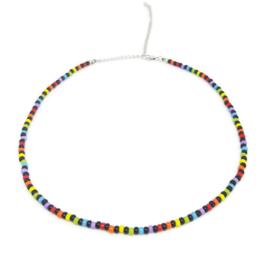 Little beads ketting ''rainbow'' 8, handmade