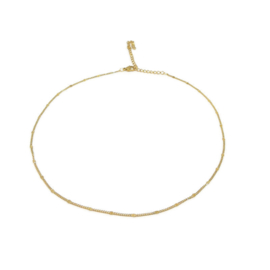 Ketting ''basic dots'' stainless steel, gold