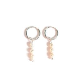 Ringoorbellen ''little pearls'' 925 silver