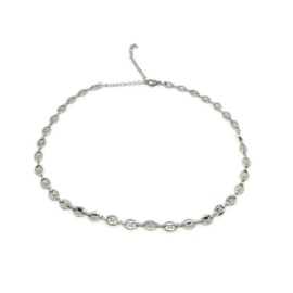 Ketting ''chunky chain'' stainless steel, silver