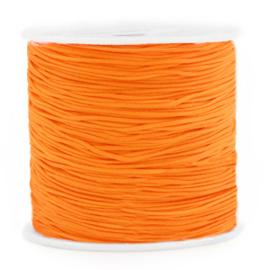 Macramé draad 0,8mm ''orange'' 1 meter