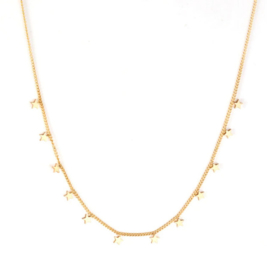 Ketting stainless steel ''tiny stars'' gold