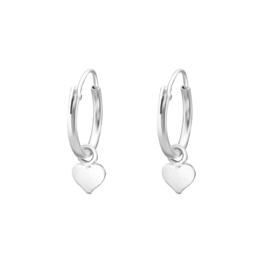 Ring oorbellen met bedel ''little hearts'' 925 silver