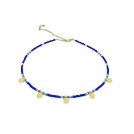 Happy bohemian necklace ''blue & light blue''