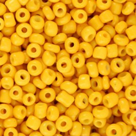 Rocailles 3mm, warm yellow