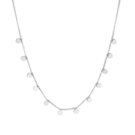 Ketting stainless steel ''tiny rounds'' silver