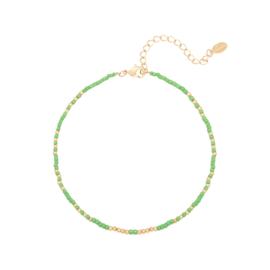 Enkelbandje ''little beads'' green