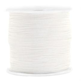 Macramé draad 0,8mm ''white'' 1 meter