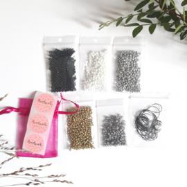 DIY-pakket armbandjes maken ''3mm kralen'' basic colors