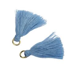 Flosjes 3,5cm ''blue'' 10 stuks
