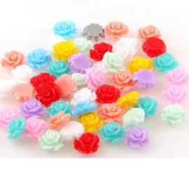 Mini bloementjes ''mixed colors'' 10 stuks