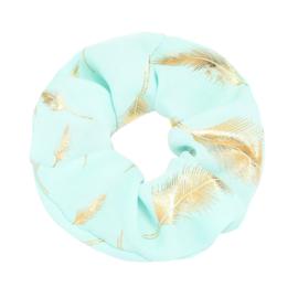 Scrunchie ''golden feather'' light blue