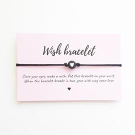 Wish-bracelet ''heart'' black