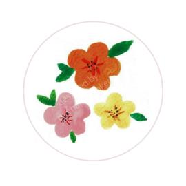 Stickers ''mixed flowers'' 8 stuks