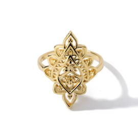 Ring bohemian stainless steel ''boho'' gold/silver
