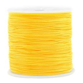 Macramé draad 0,8mm ''yellow'' 1 meter