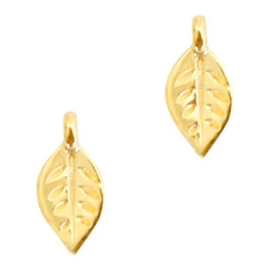Mini bedel ''leaf'' goud 1 stuk