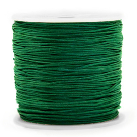 Macramé draad 0,8mm ''dark green'' 1 meter