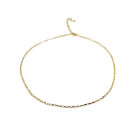 Ketting ''minimalistic chain'' stainless steel, gold