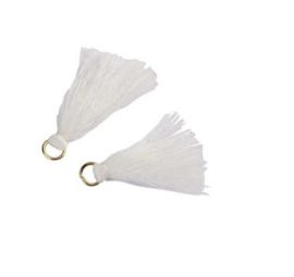 Flosjes 3,5cm ''white'' 10 stuks