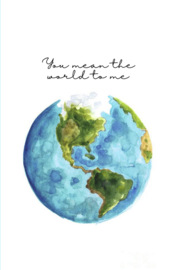 Mini kaartje ''the world''