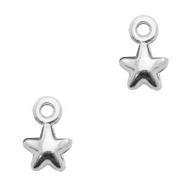 Mini bedel ''star'' zilver 1 stuk