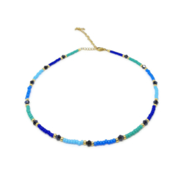 Beads necklace ''blue colors''