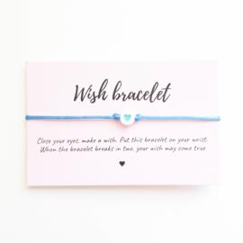Wish-bracelet ''heart'' blue