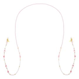 Zonnebrillenkoordje ''hearts'' pink