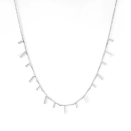 Ketting stainless steel ''tiny bars'' silver