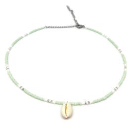 Little beads ketting ''happy colors'' met kauri schelpje