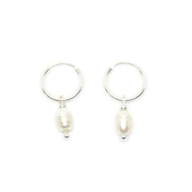 Ringoorbellen ''little pearl'' 925 silver