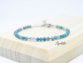 Edelsteen armband ''apatite'' 925 silver or gold plated