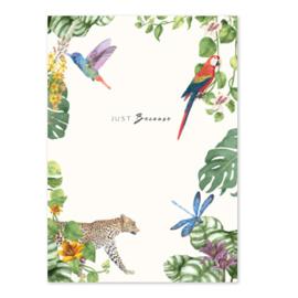 Kaart ''jungle animals''