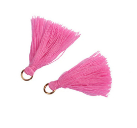 Flosjes 3,5cm ''pink'' 10 stuks