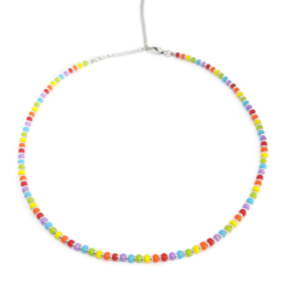 Little beads ketting ''rainbow'' 5, handmade