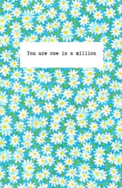 Mini kaartje ''one in a million''