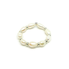 Ring ''little pearl'' silver