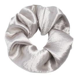 Scrunchie ''satin'' silver